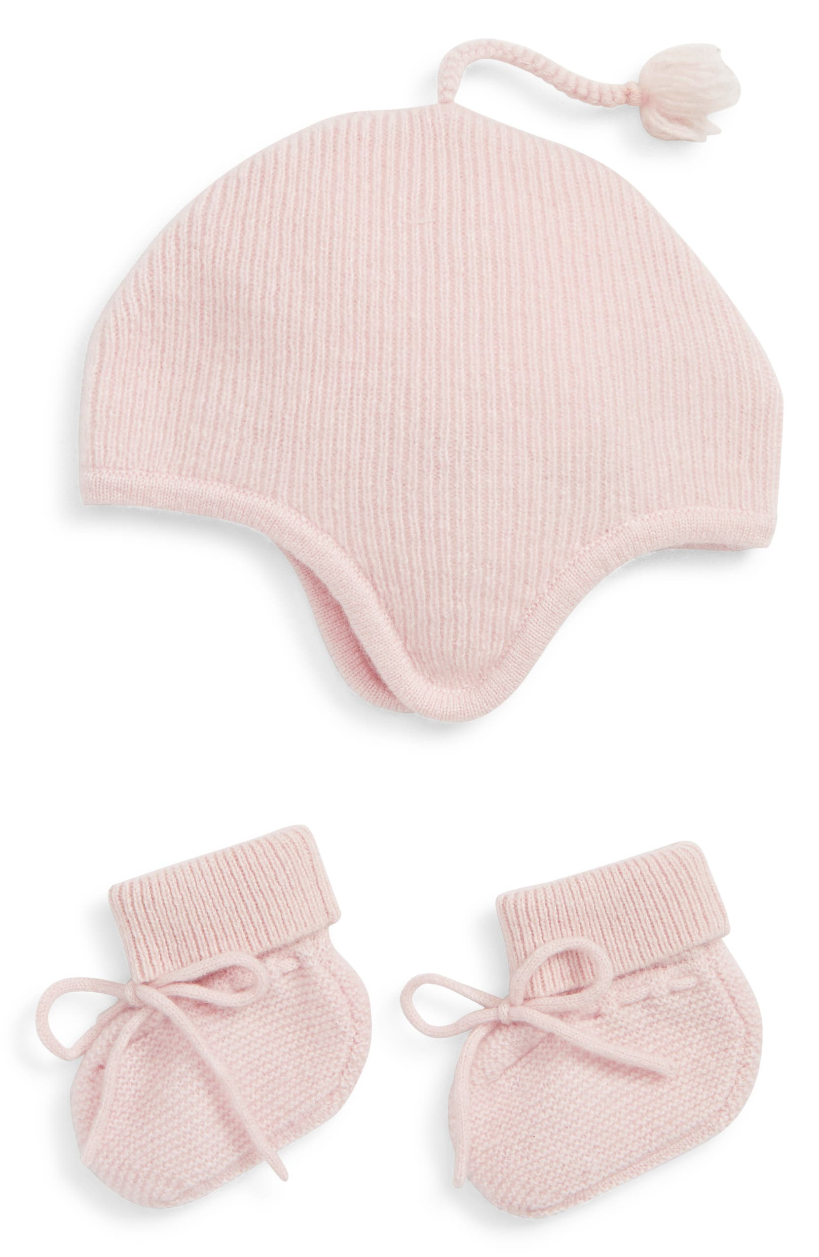 047235eaf Nordstrom Signature Pink Cashmere Hat and Bootie Boxed Gift Set (Baby)