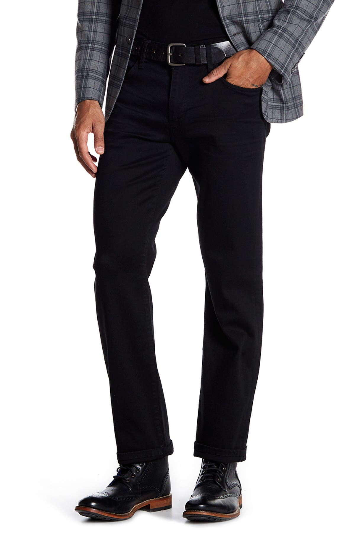 Image of Joe's Jeans Classic Solid Straight Leg Jeans