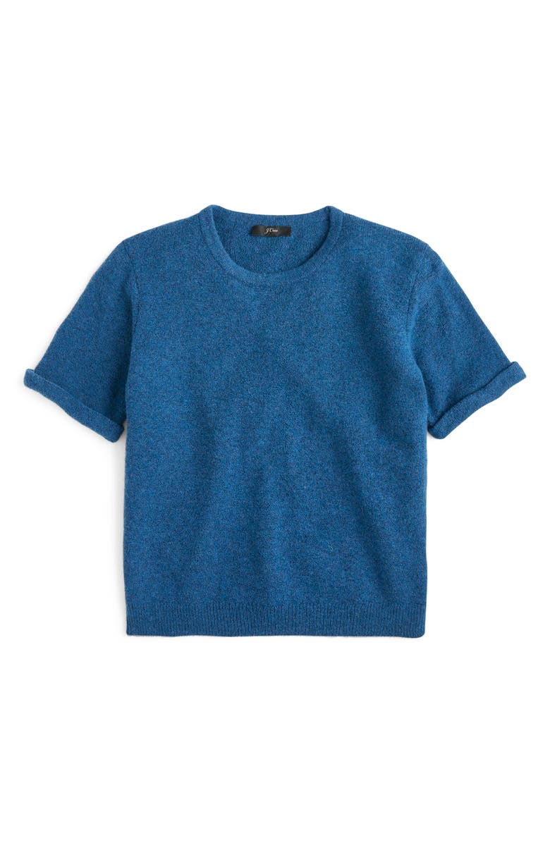 J.CREW Short Sleeve Supersoft Sweater, Main, color, 023