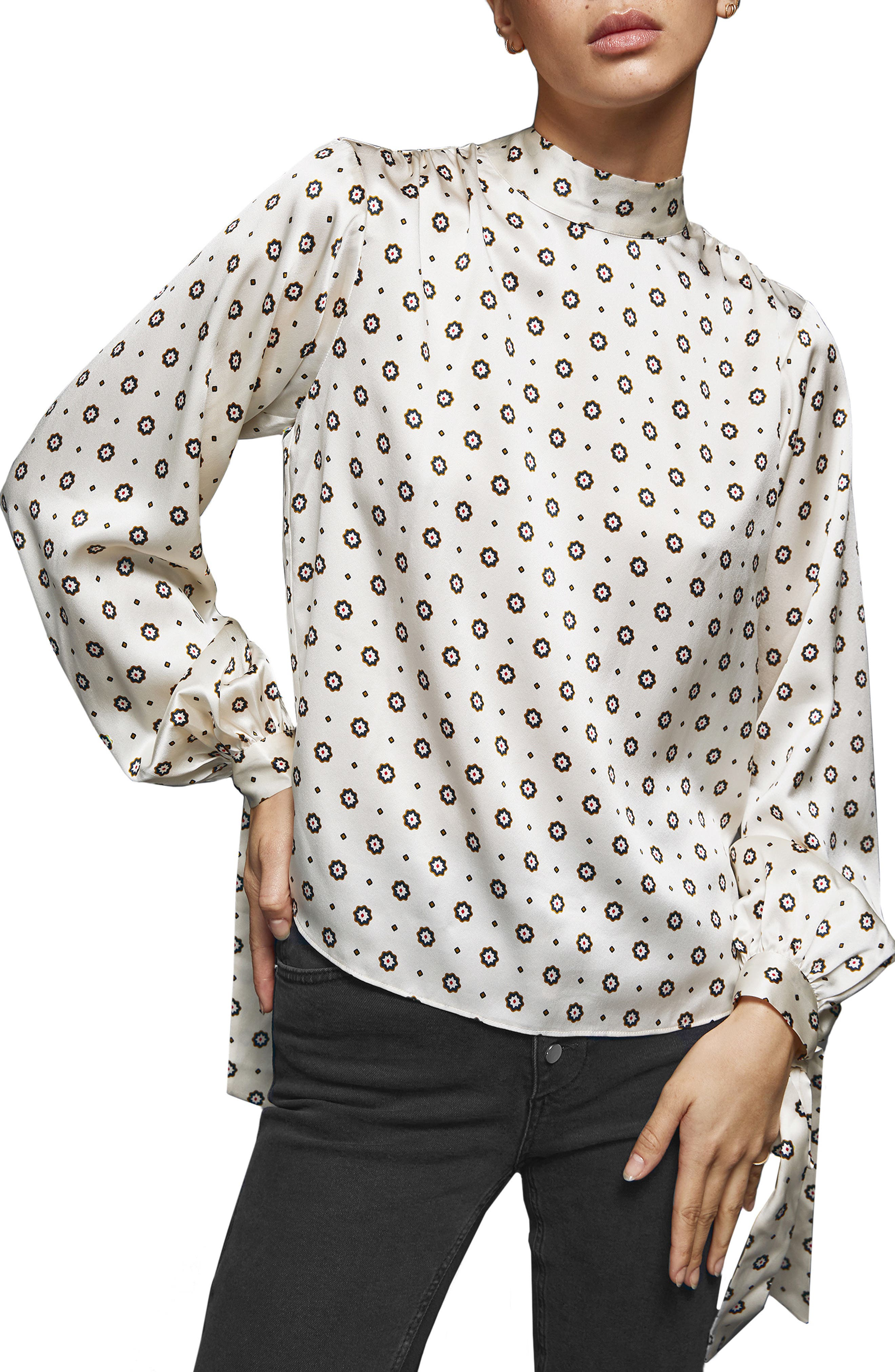 ,                             Esther Silk Satin Top,                             Main thumbnail 1, color,                             CHAMPAGNE