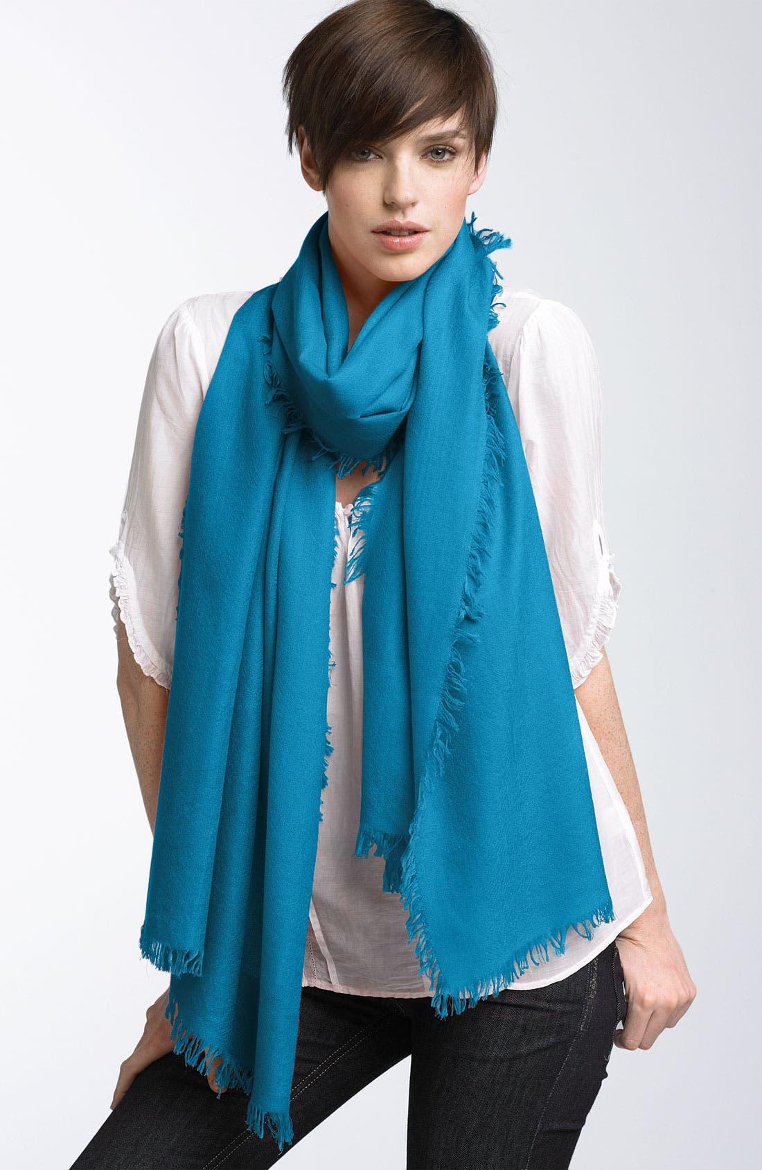 ,                             'Eyelash' Colorblock Cashmere Wrap,                             Main thumbnail 35, color,                             400