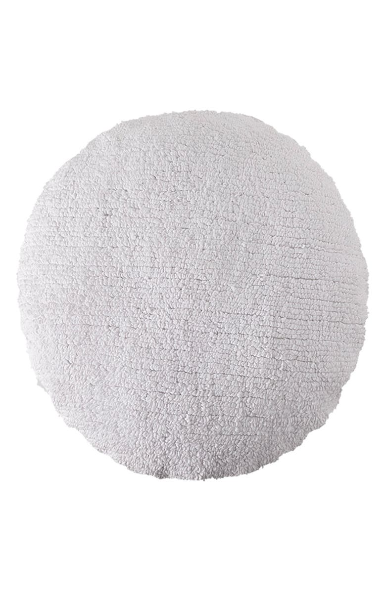 LORENA CANALS Big Dot Recycled Cotton Blend Cushion, Main, color, WHITE