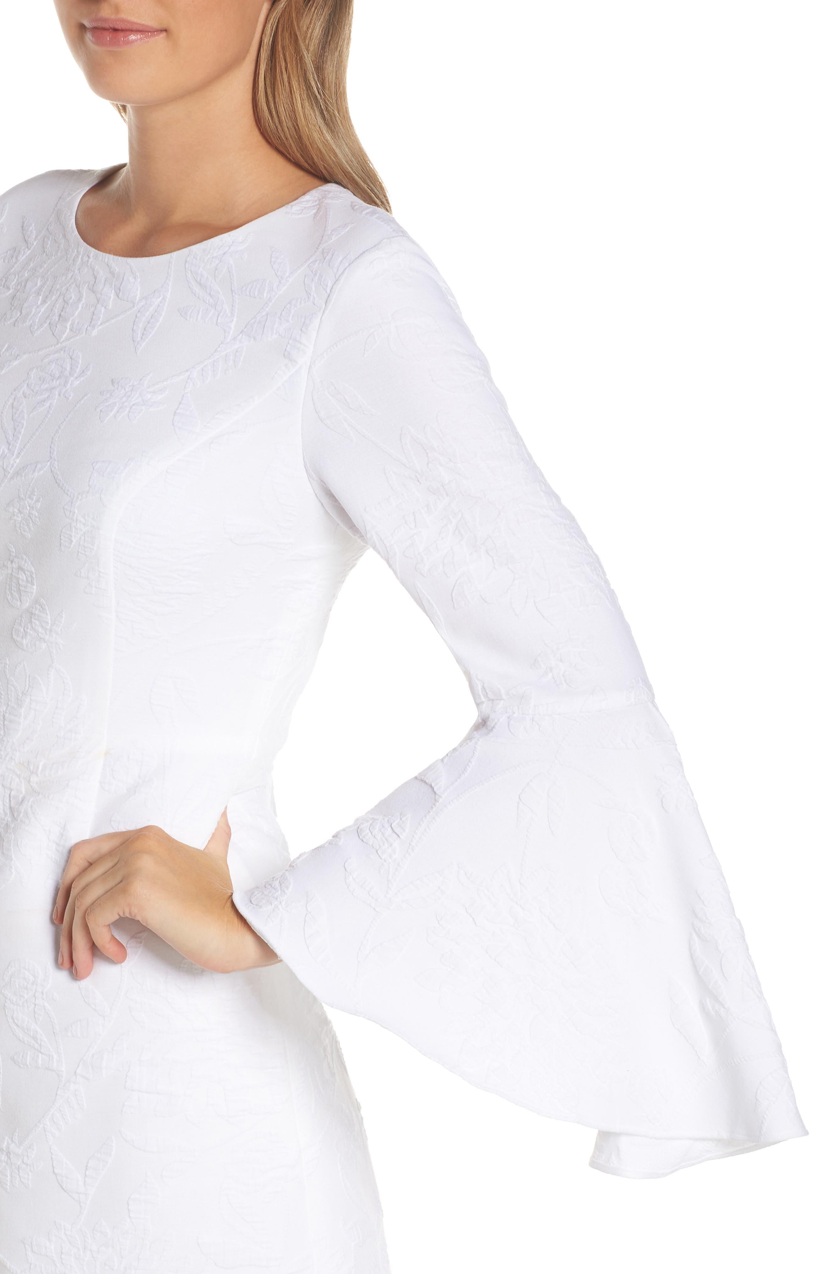 ,                             Kayla Bell Sleeve Dress,                             Alternate thumbnail 5, color,                             RESORT WHITE CALIENTE PUC