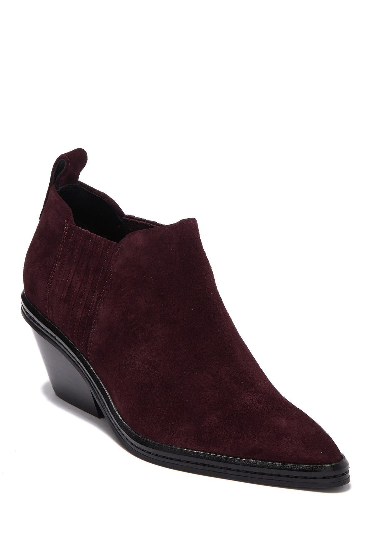 Image of Via Spiga Farly Suede Pointy Toe Bootie