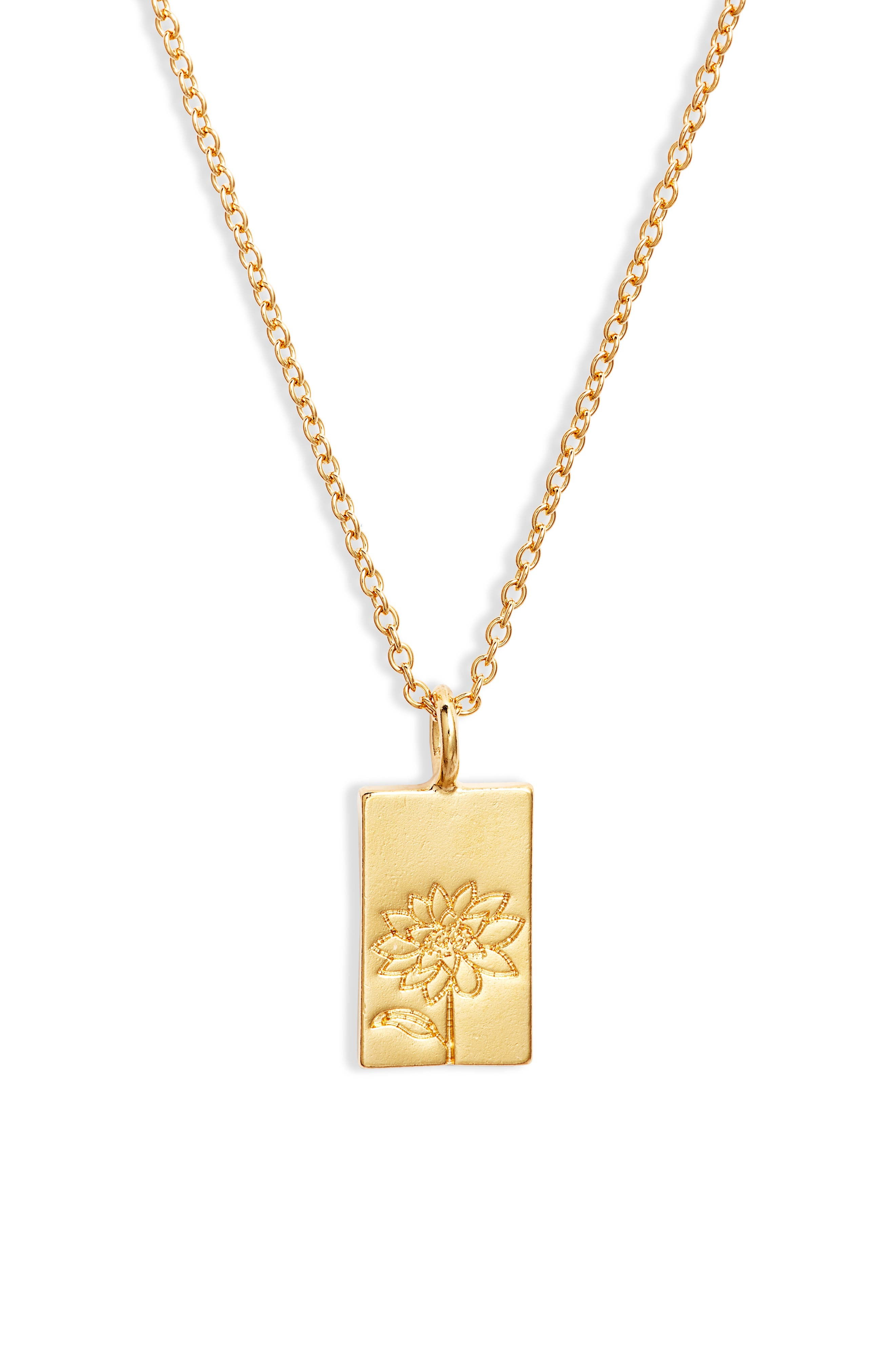 Chasing Light Pendant Necklace in 14K Gold at Nordstrom