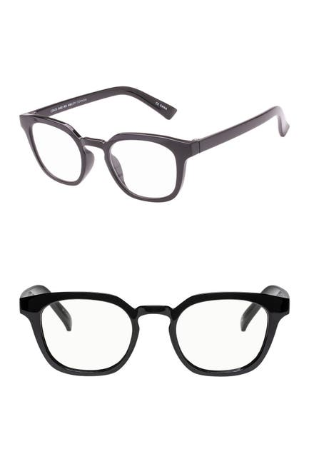 Image of The Bookclub Cents & No Ability 48mm Square Reading Glasses - +2.00