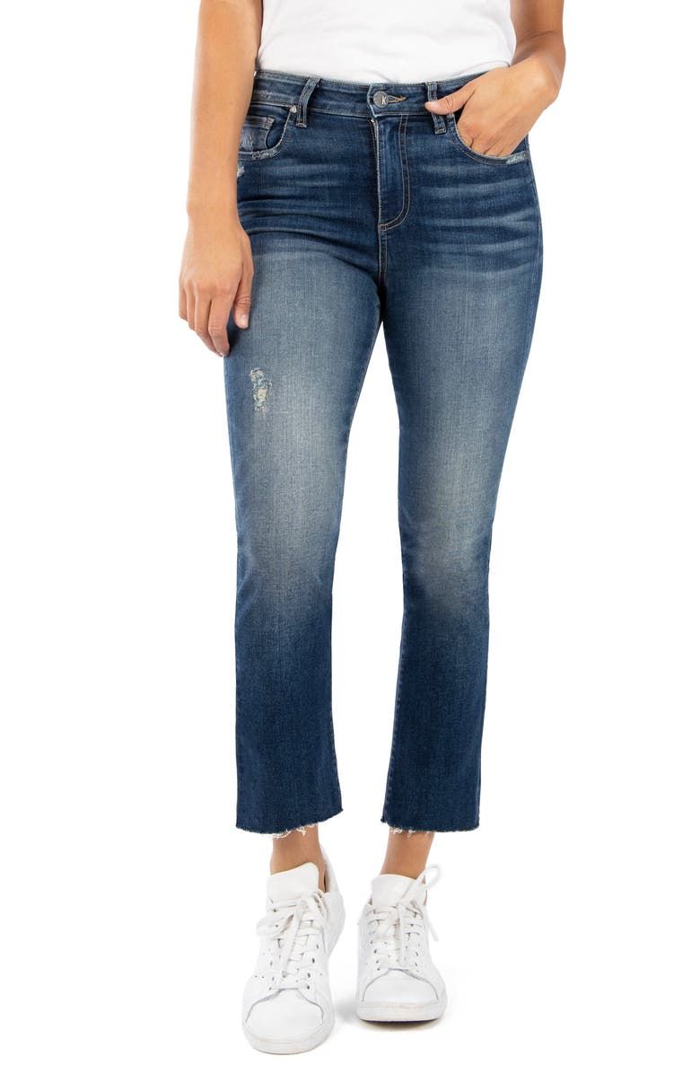 KUT FROM THE KLOTH Kelsey Raw Hem Ankle Flare Jeans, Main, color, 420