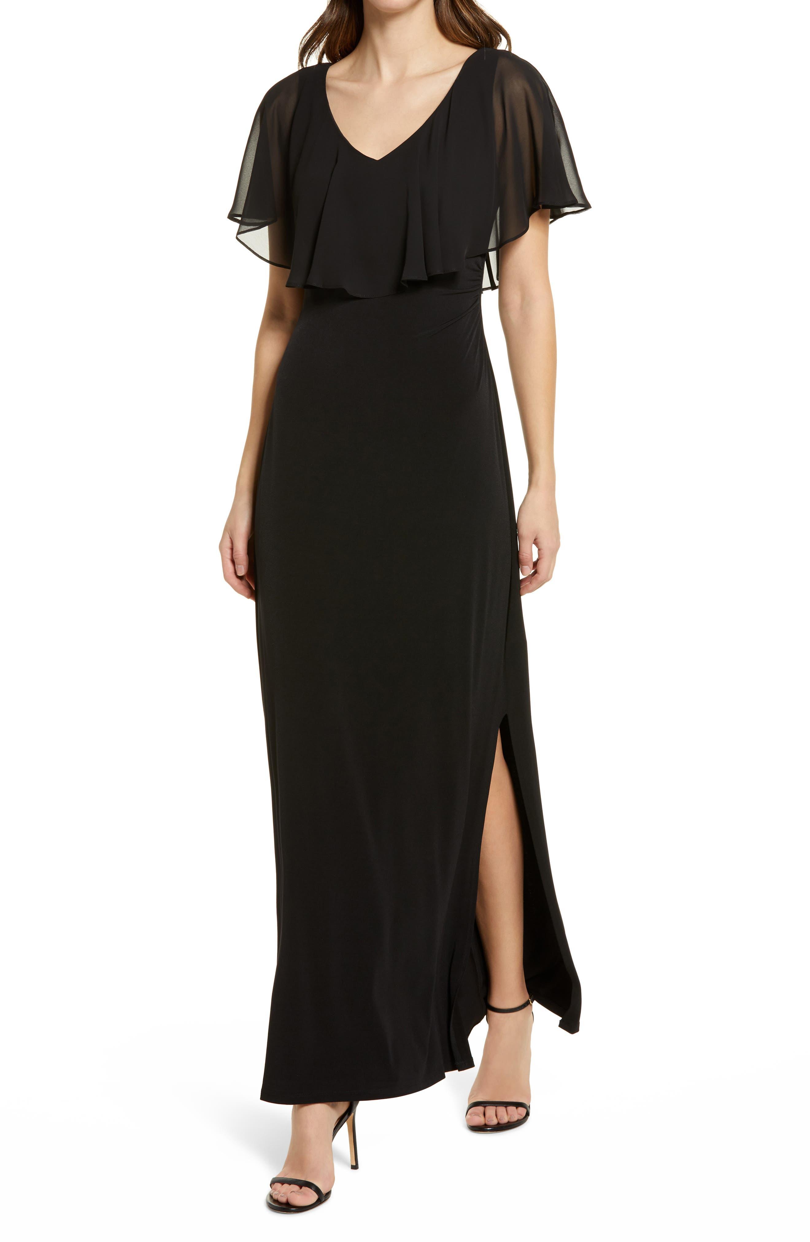 Flutter Sleeve V-Neck Dress