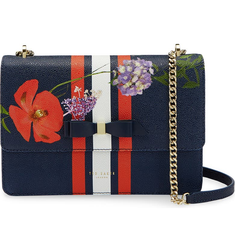 TED BAKER LONDON Traccy Hedgerow Floral Leather Crossbody Bag, Main, color, 400