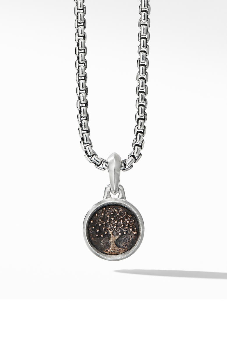 DAVID YURMAN Extra Small Tree of Life Amulet with Bronze, Main, color, SILVER/ GOLD