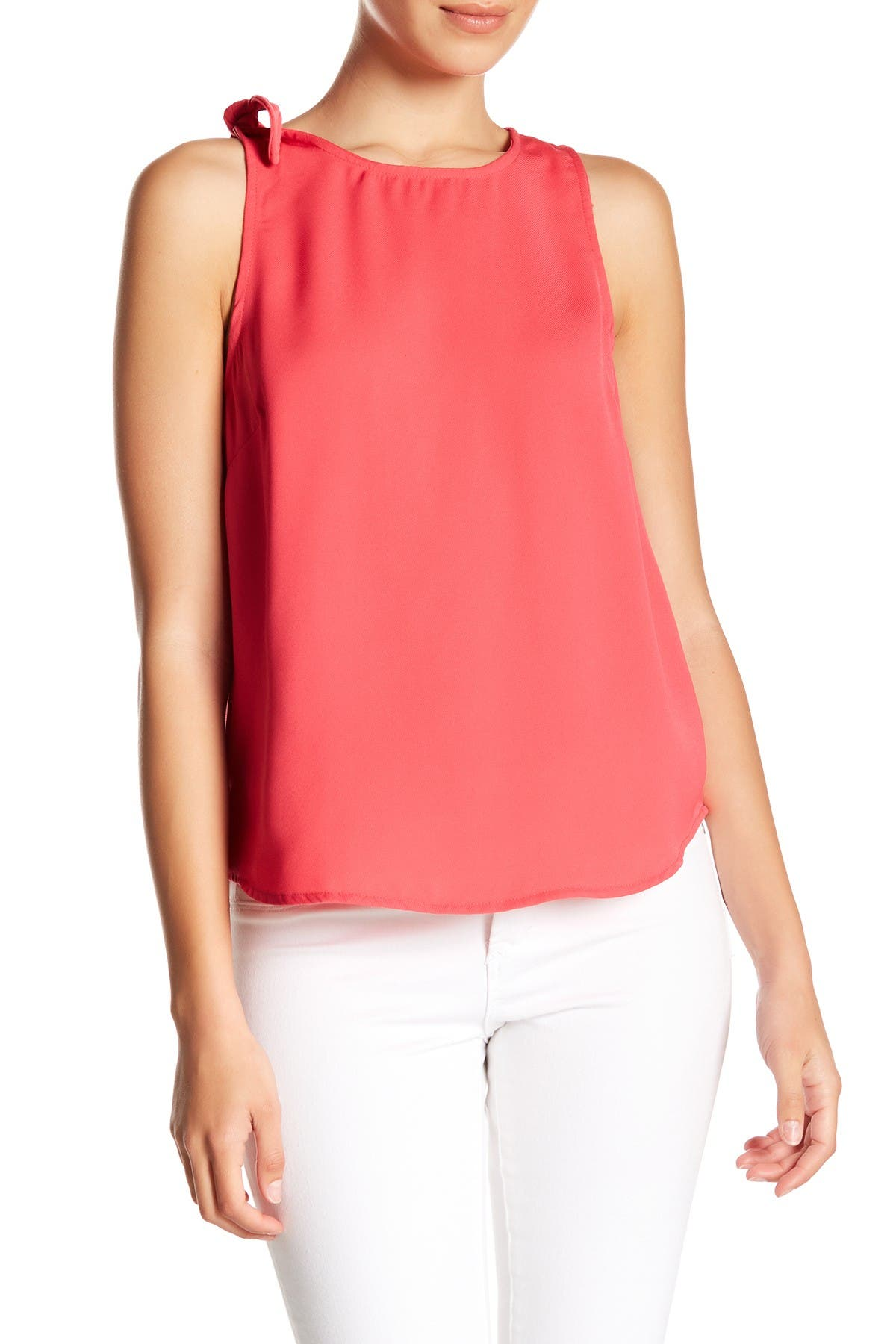 Image of 14th & Union Shoulder Tie Sleeveless Blouse