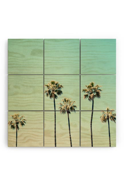 Image of Deny Designs Bree Madden Palm Tree Ombre Wood Wall Mural