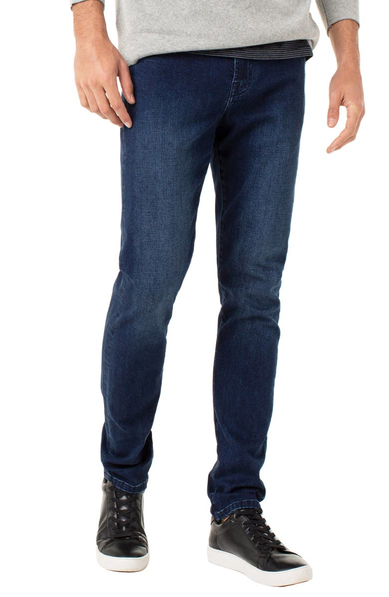 LIVERPOOL Kingston Slim Straight Leg Jeans, Main, color, OBERON