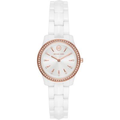 Michael Kors Runway Mercer Pave Ceramic Bracelet Watch, 2m
