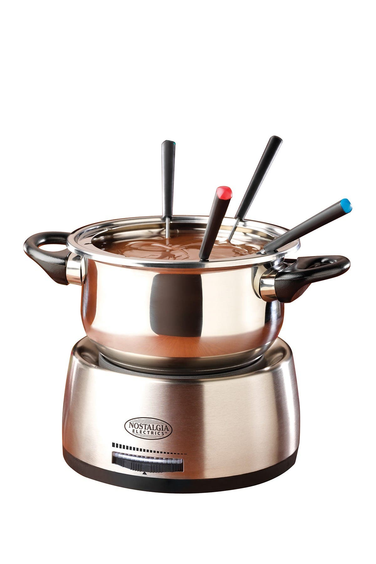 Image of Nostalgia Stainless Steel Electric Fondue Pot