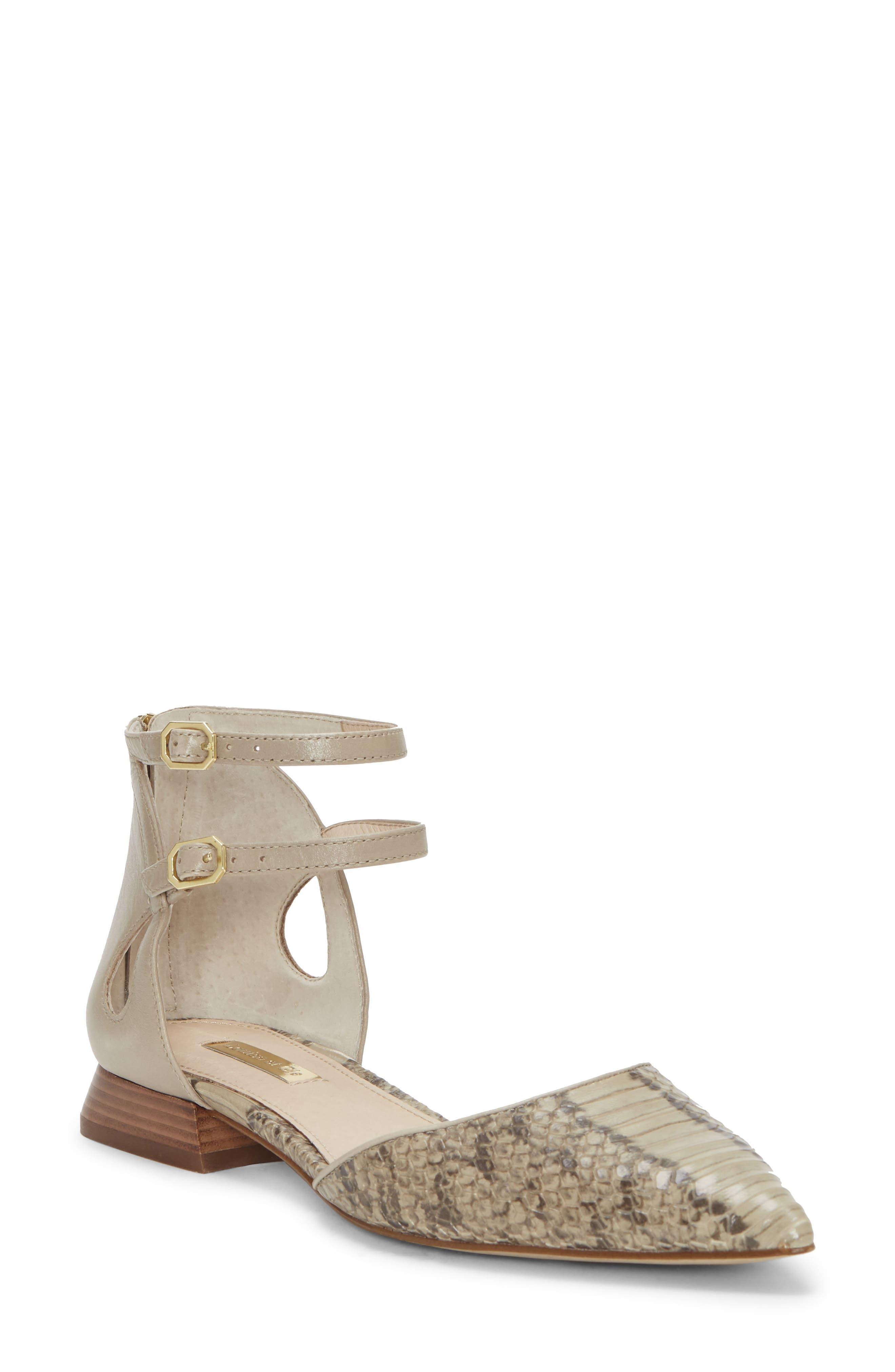 Carlen Ankle Strap Flat