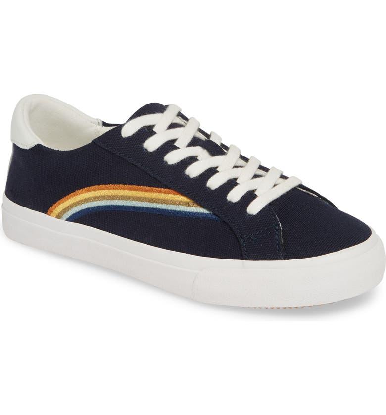 MADEWELL Delia Rainbow Sneaker, Main, color, DEEP NAVY RAINBOW
