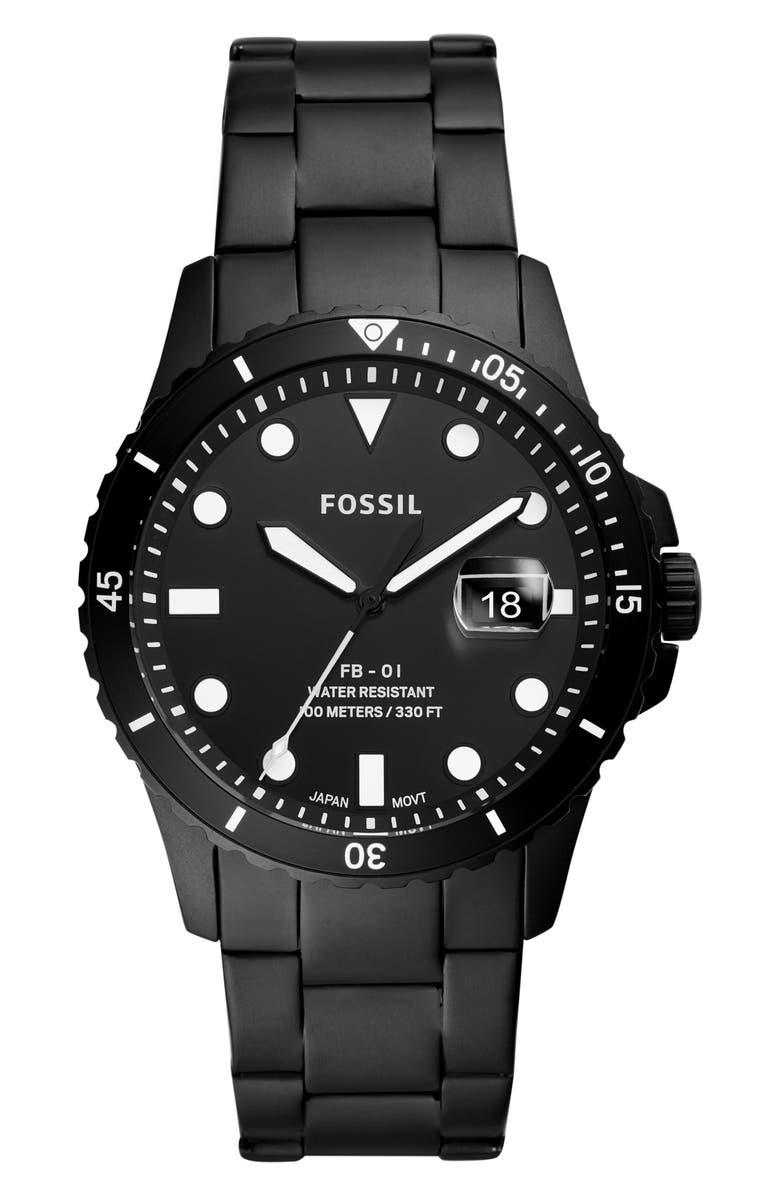 FOSSIL FB-01 Bracelet Watch, 42mm, Main, color, 001