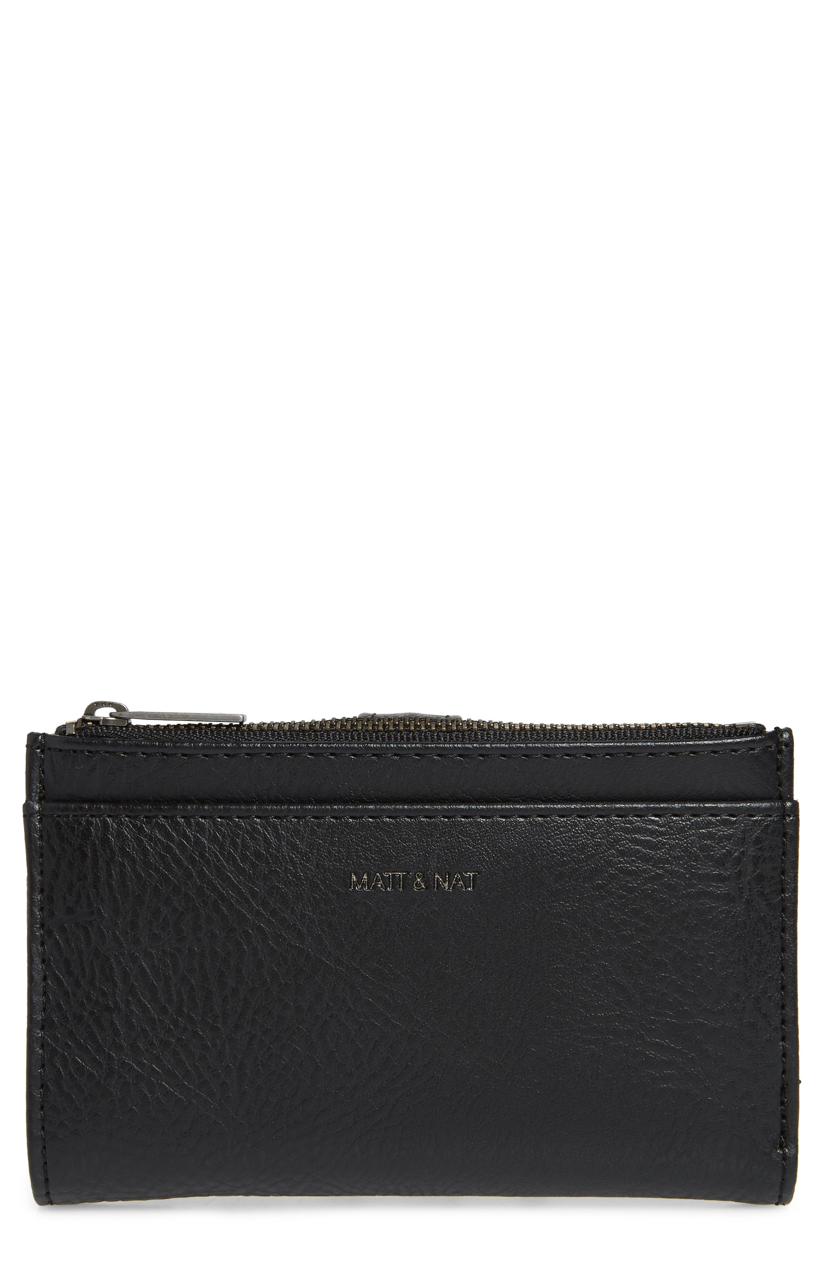 Matt & Nat Small Motiv Faux Leather Wallet - Black