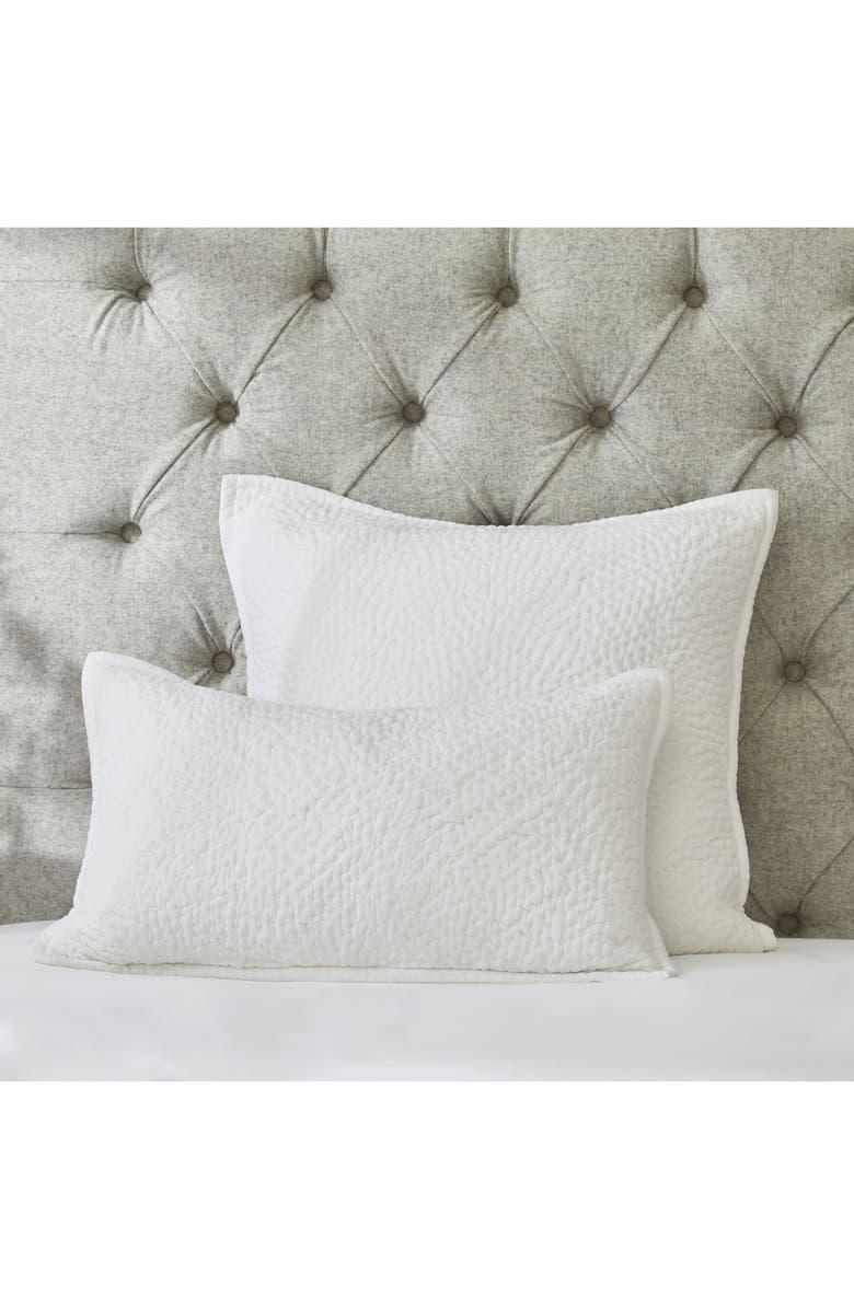 THE WHITE COMPANY Melton Quilted Cushion Cover, Main, color, 100