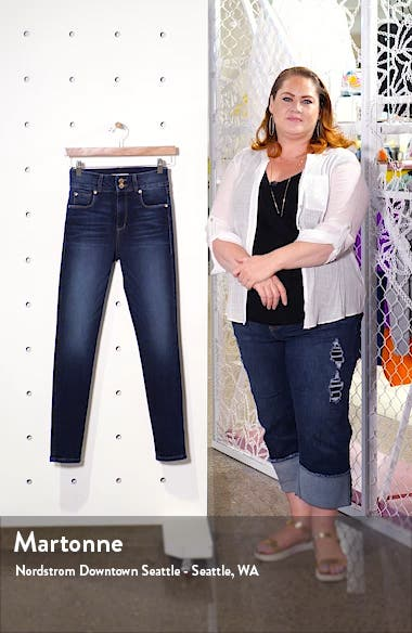 Brie Double Button High Waist Ankle Skinny Jeans, sales video thumbnail
