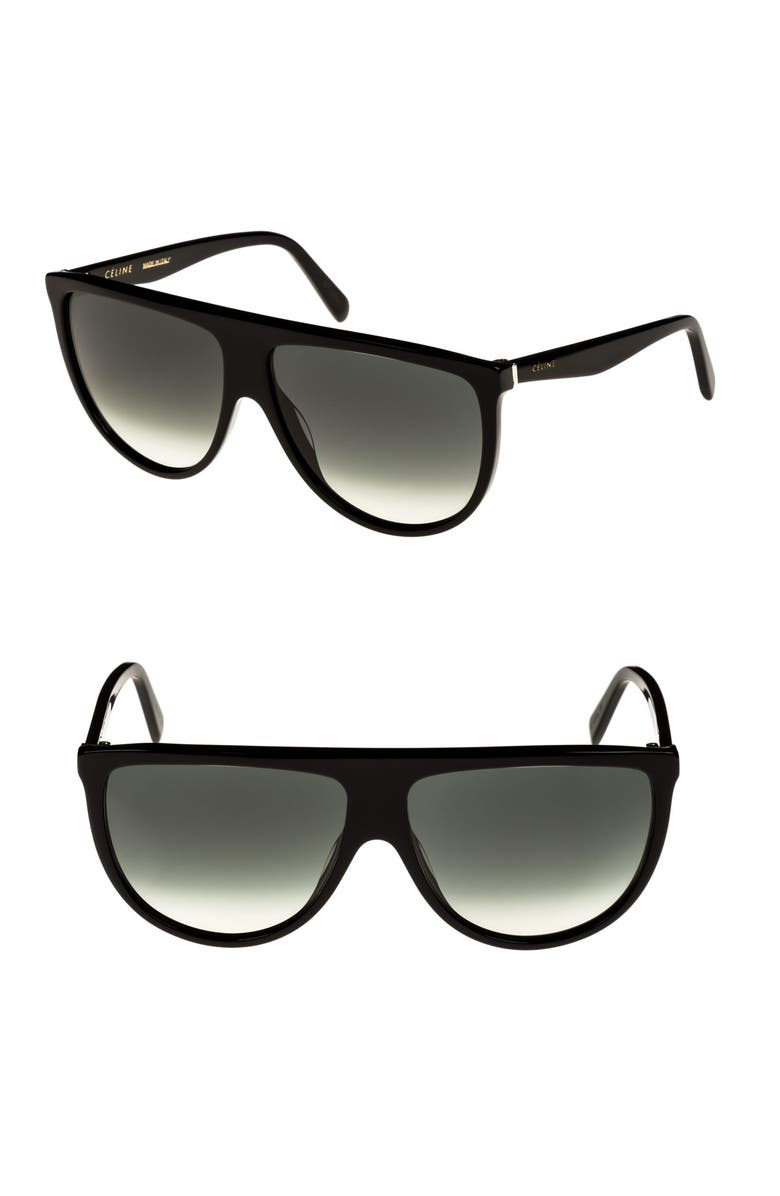 CELINE 62mm Pilot Sunglasses, Main, color, 001
