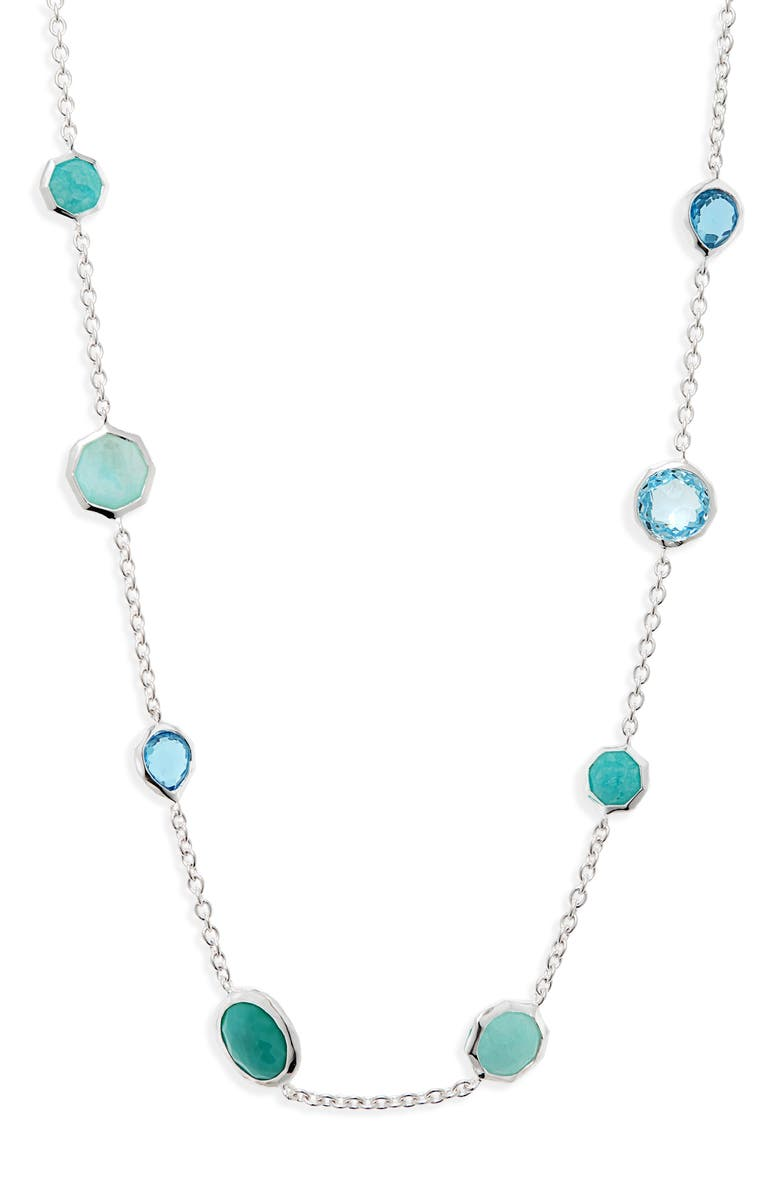 IPPOLITA Rock Candy Mini Station Necklace, Main, color, WATERFALL