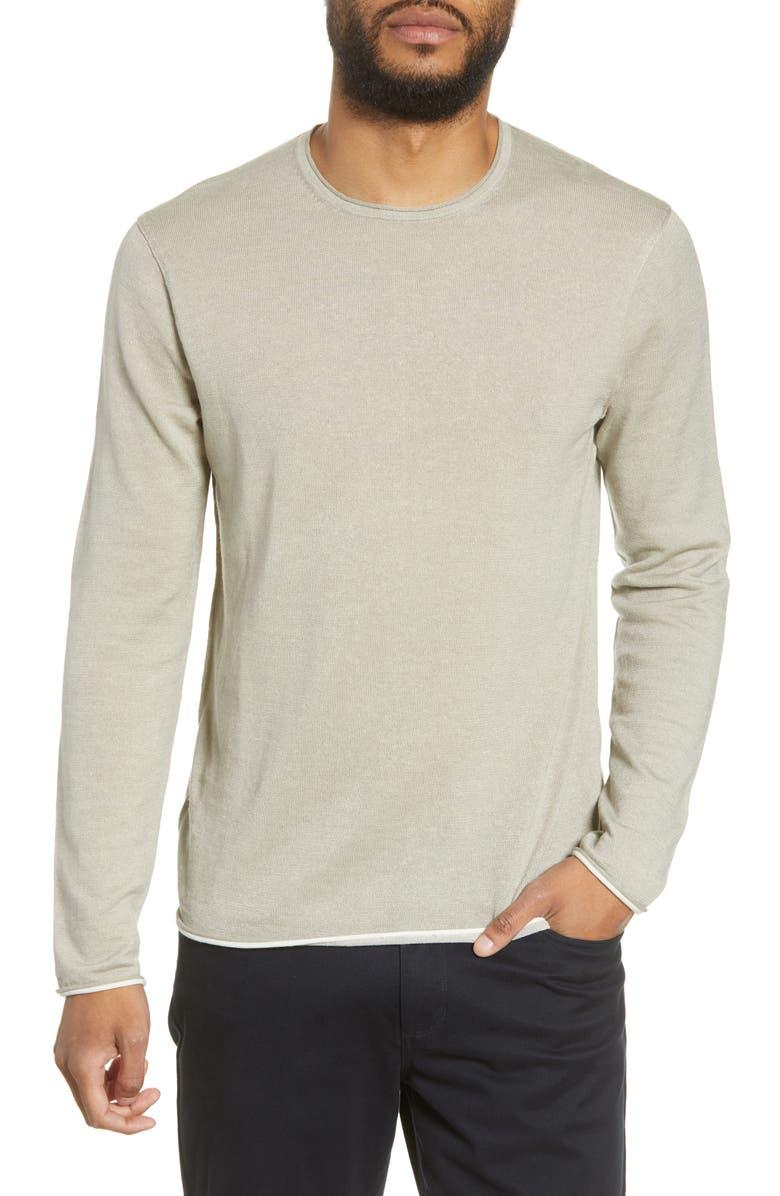 RAG & BONE Trent Crewneck Wool Blend Sweater, Main, color, 020