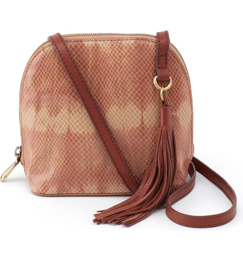 HOBO Nash Calfskin Leather Crossbody Bag, Main, color, DESERT TIE DYE