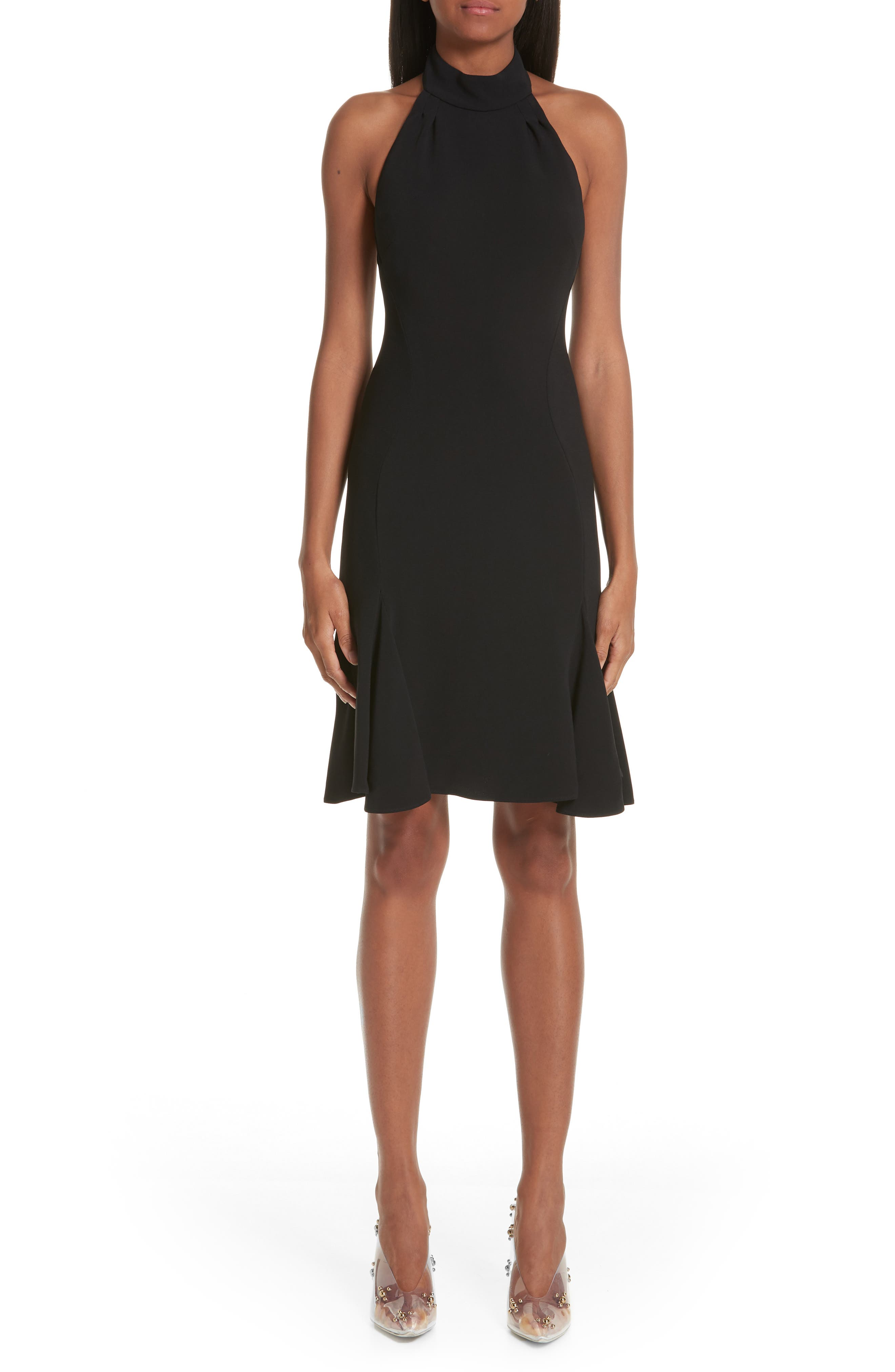 Stella Mccartney Stretch Cady Halter Dress, US / 46 IT - Black