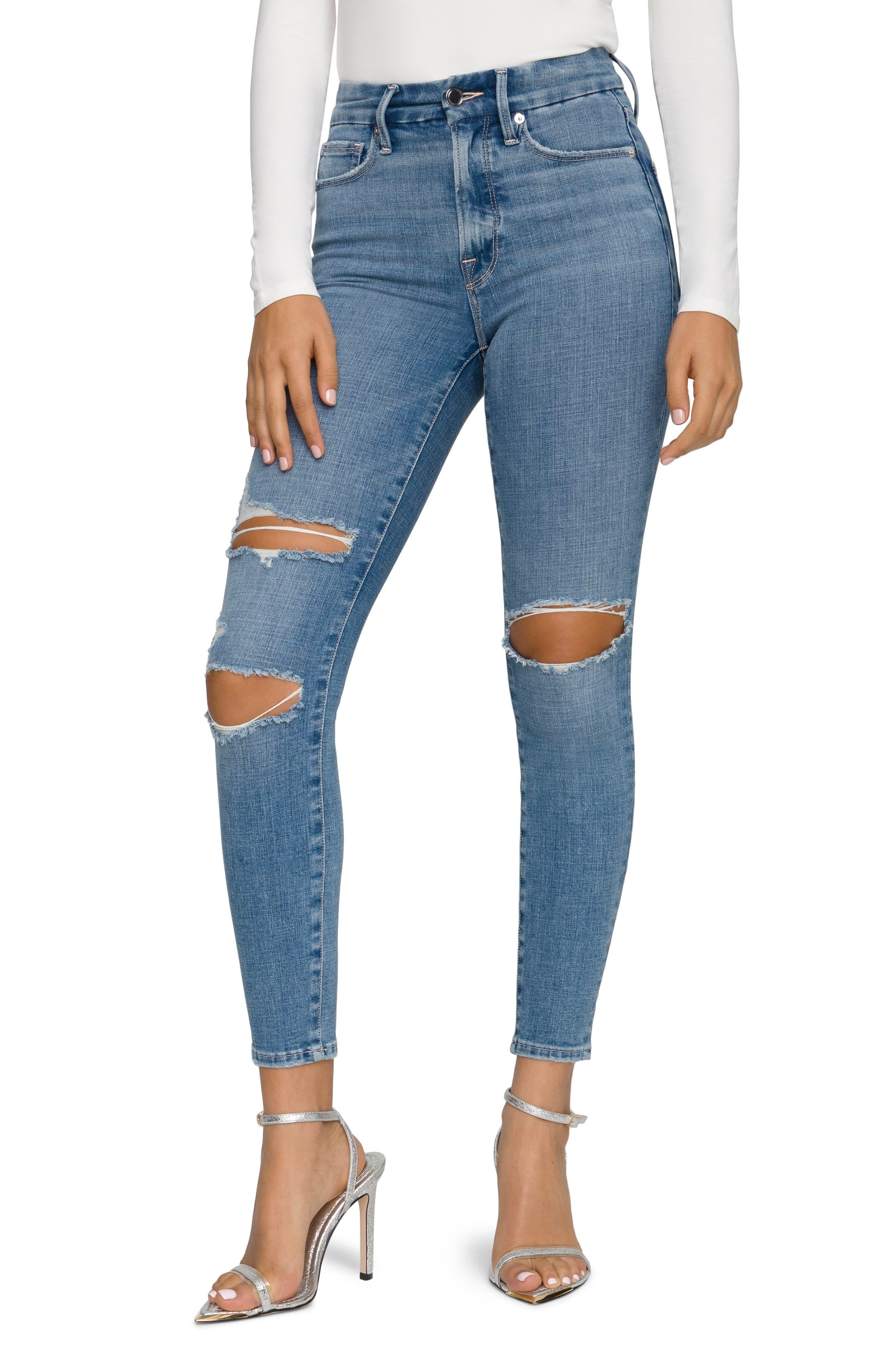 Good Legs High Waist Ripped Crop Skinny Jeans