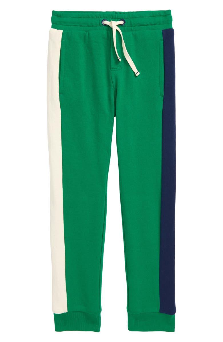MINI BODEN Cosy Lined Jogger Pants, Main, color, HIKE GREEN COLOURBLOCK