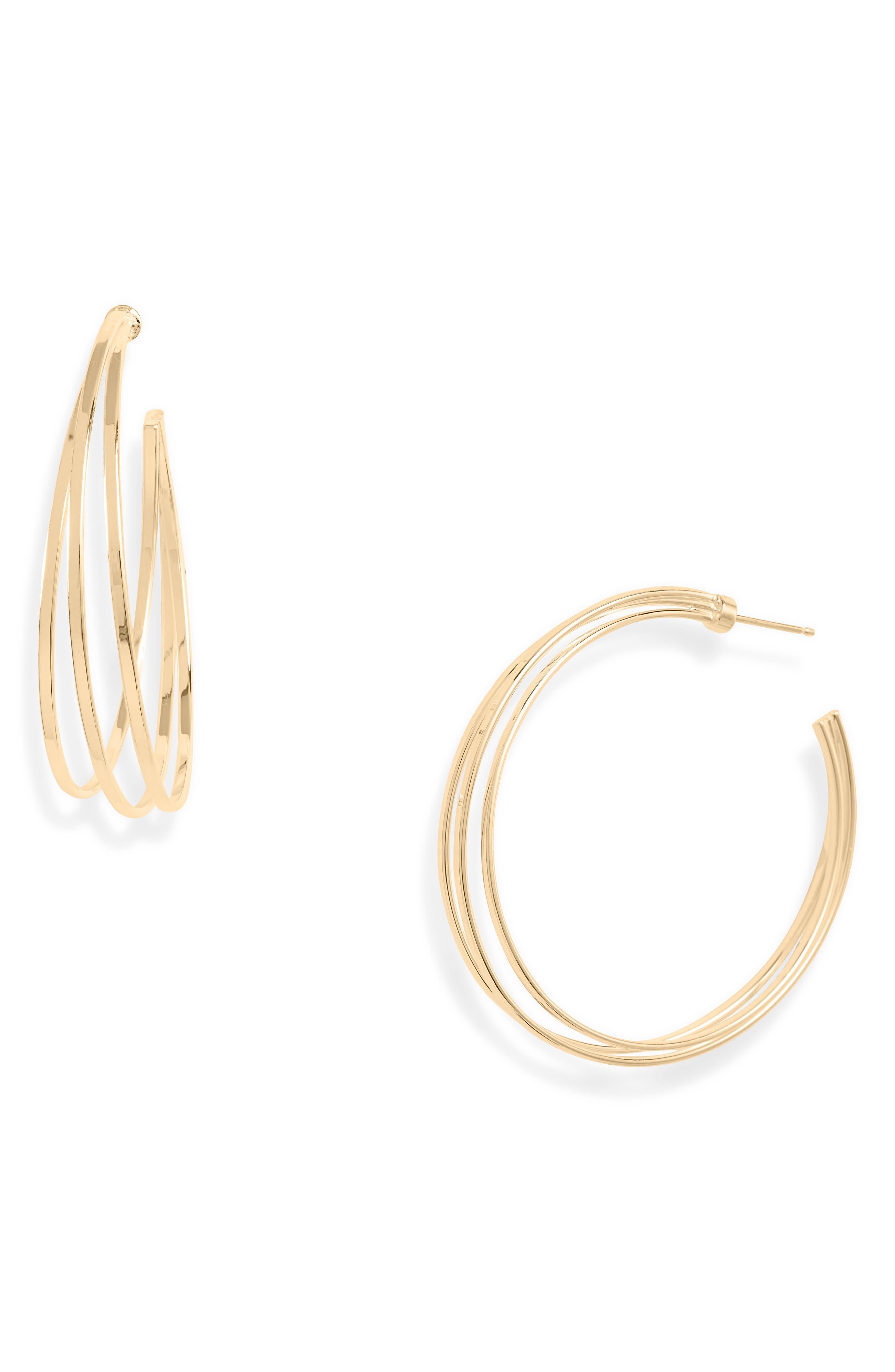 Raya 2 Triple Hoop Earrings