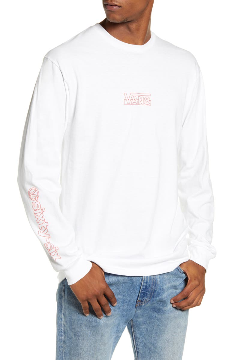 VANS Frameworks Long Sleeve T-Shirt, Main, color, WHITE