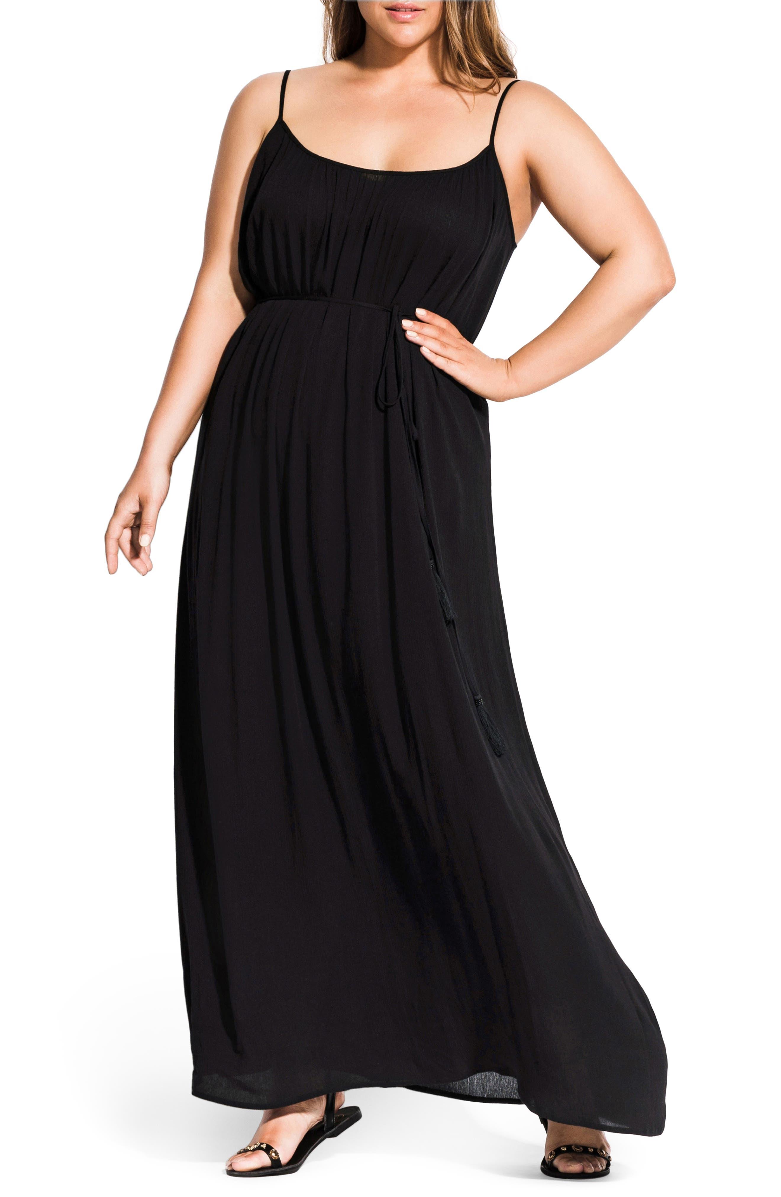 c1baad1234e3 Plus Size Chic City Paradise Maxi Dress, Black