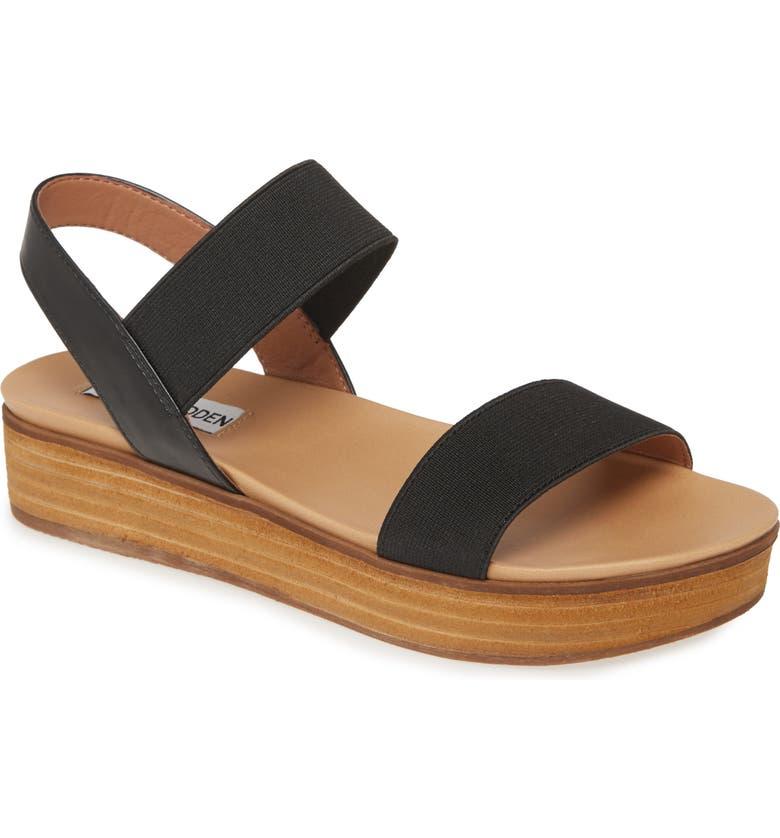 STEVE MADDEN Agile Platform Sandal, Main, color, BLACK