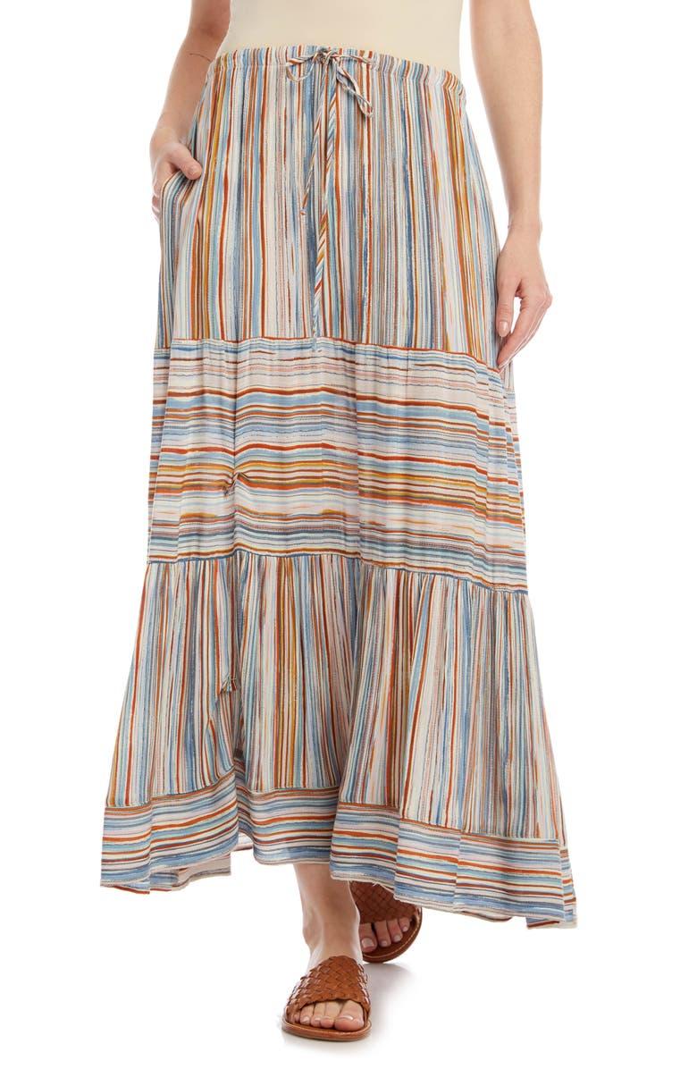 KAREN KANE Stripe Midi Skirt, Main, color, STRIPE