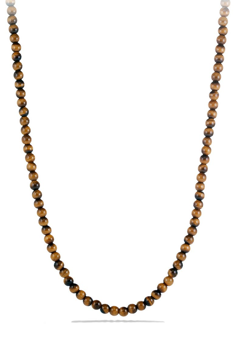 DAVID YURMAN 'Spiritual Beads' Necklace with Stone, Main, color, TIGER EYE