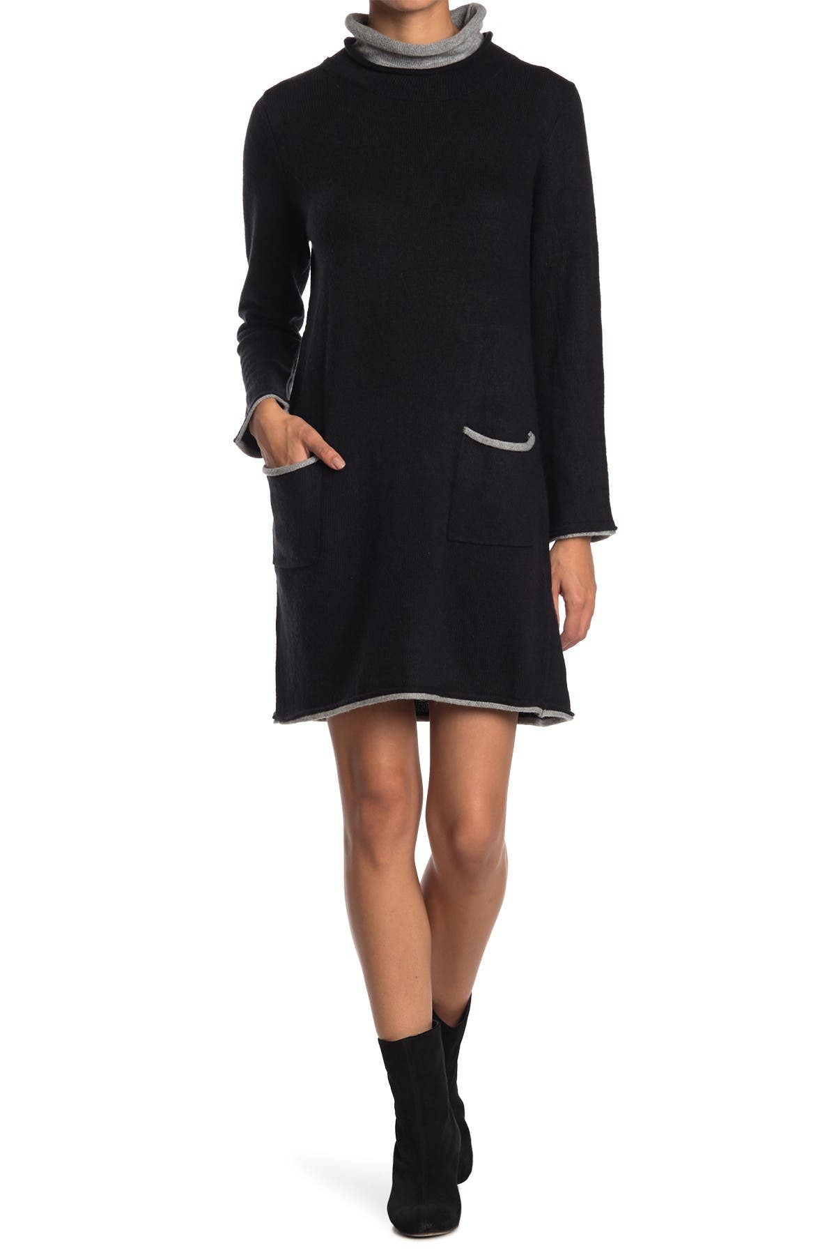 Image of Max Studio Long Sleeve Shift Sweater Dress