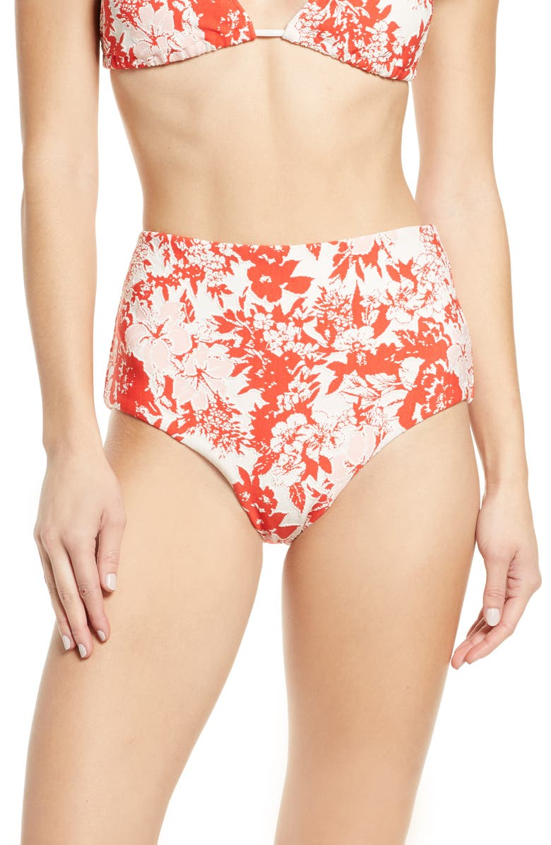 FLAGPOLE Cole High Waist Bikini Bottoms, Main, color, 600