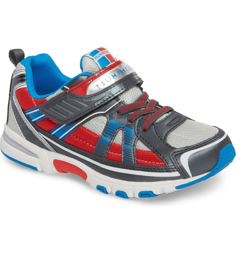 TSUKIHOSHI Storm Washable Sneaker, Main, color, GRAPHITE/ RED