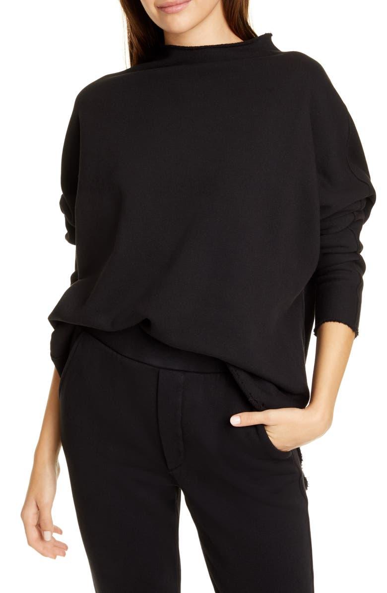 FRANK & EILEEN Funnel Neck Sweatshirt, Main, color, BLACK
