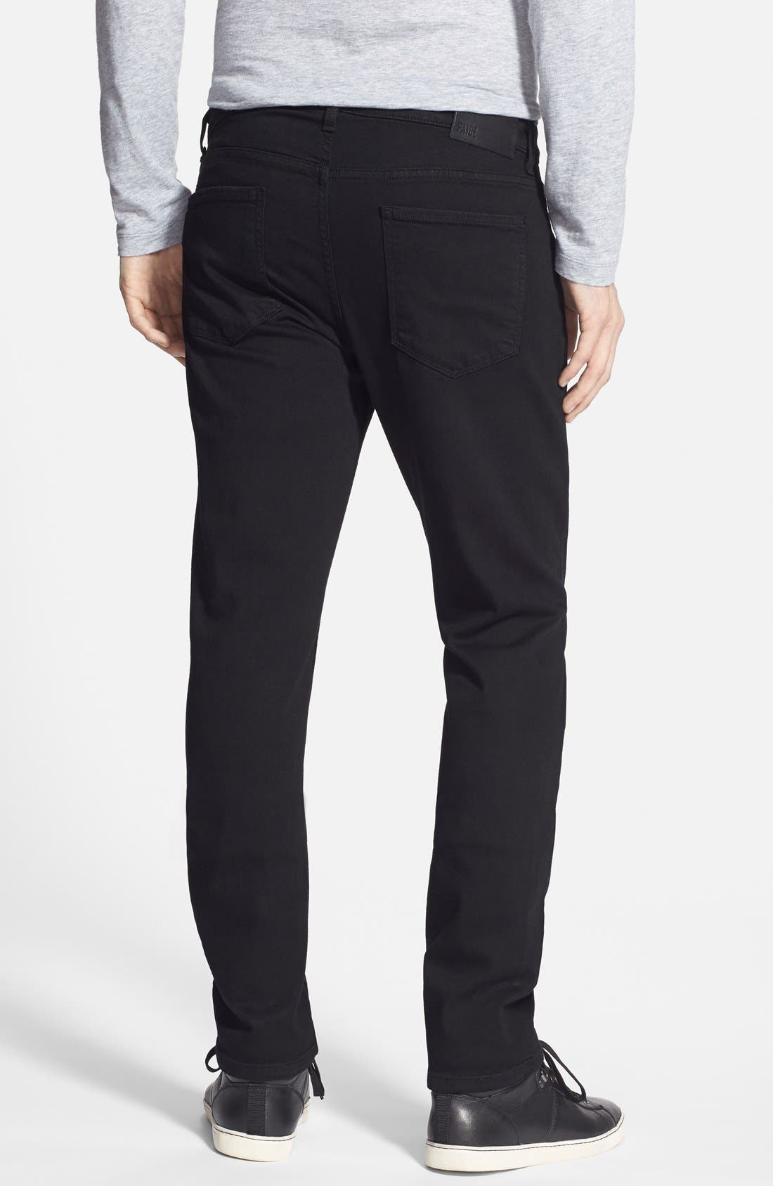 ,                             Transcend – Lennox Slim Fit Jeans,                             Alternate thumbnail 5, color,                             BLACK SHADOW
