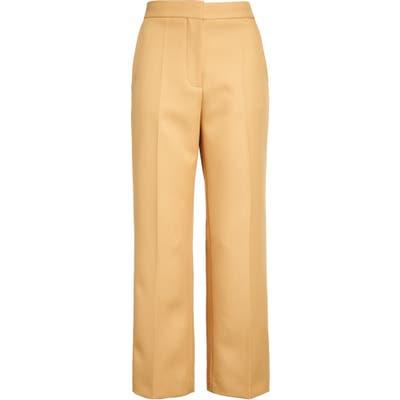 Stella Mccartney High Waist Straight Leg Crop Pants, US - Brown