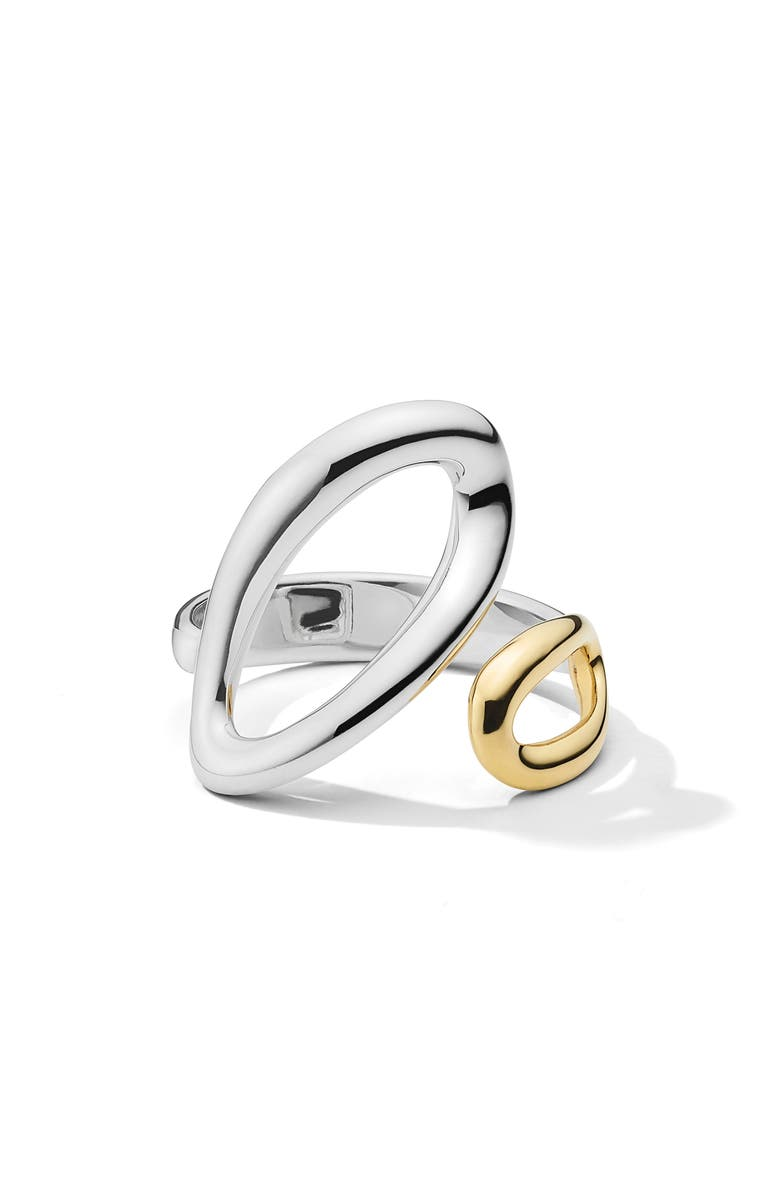 IPPOLITA Chimera Classico Small Bypass Ring, Main, color, SILVER