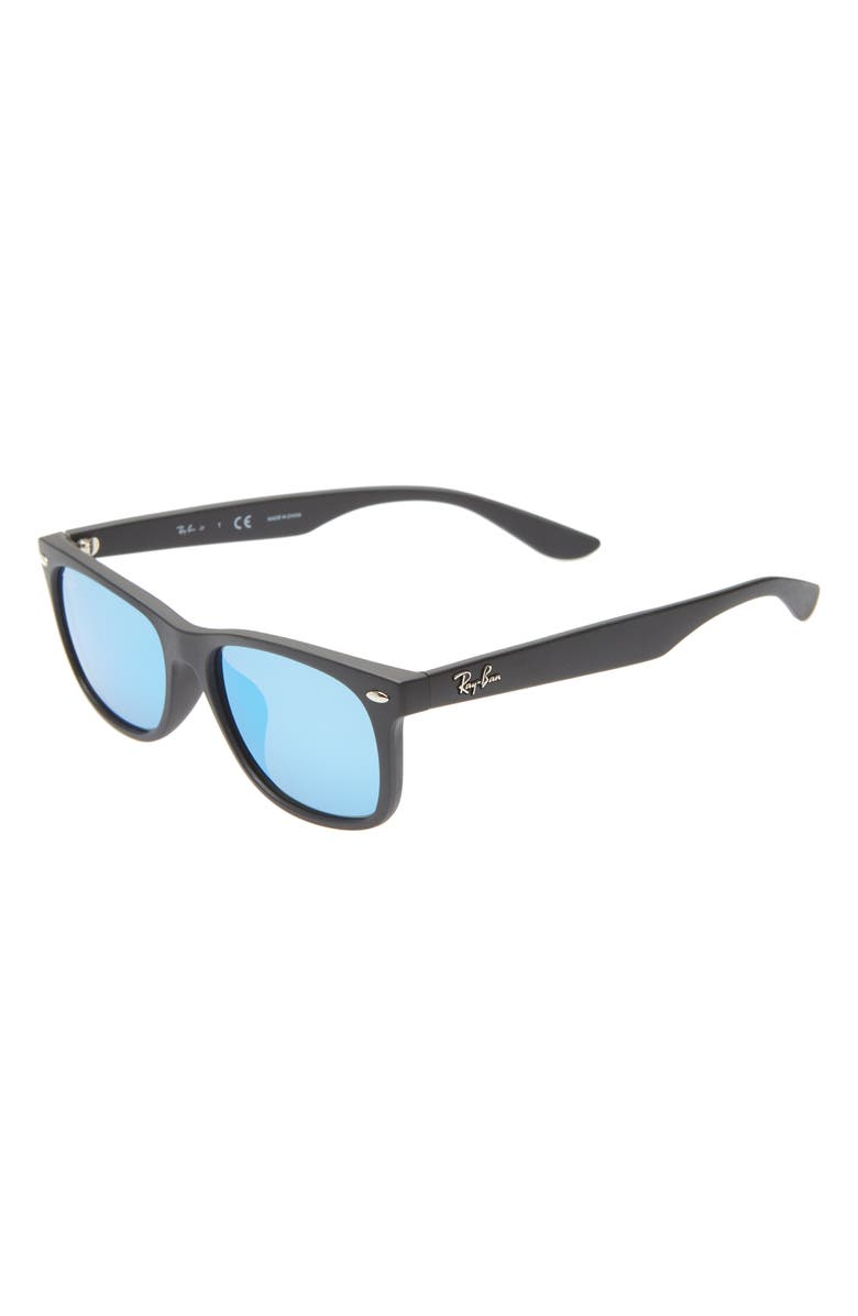 RAY-BAN Junior 50mm Wayfarer Mirrored Sunglasses, Main, color, 001