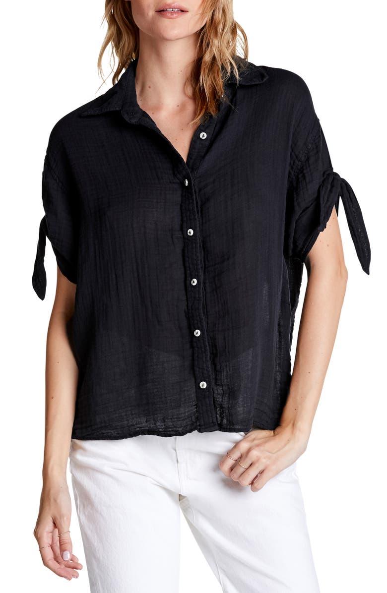 Michael Stars Tess Tie Sleeve Shirt