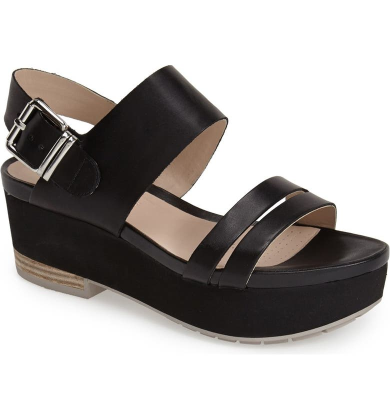 CLARKS<SUP>®</SUP> NARRATIVE 'Perez' Platform Sandal, Main, color, 001