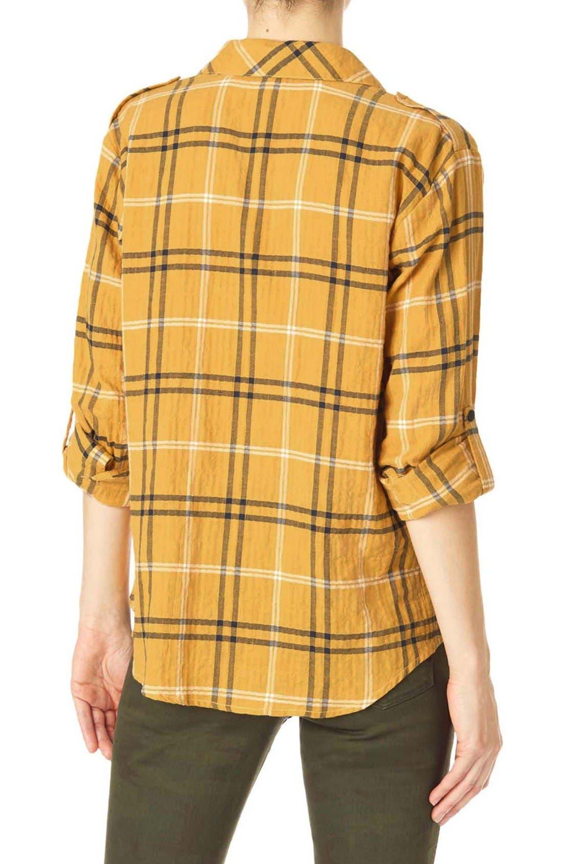 ,                             Plaid Flannel Boyfriend Shirt,                             Alternate thumbnail 17, color,                             795