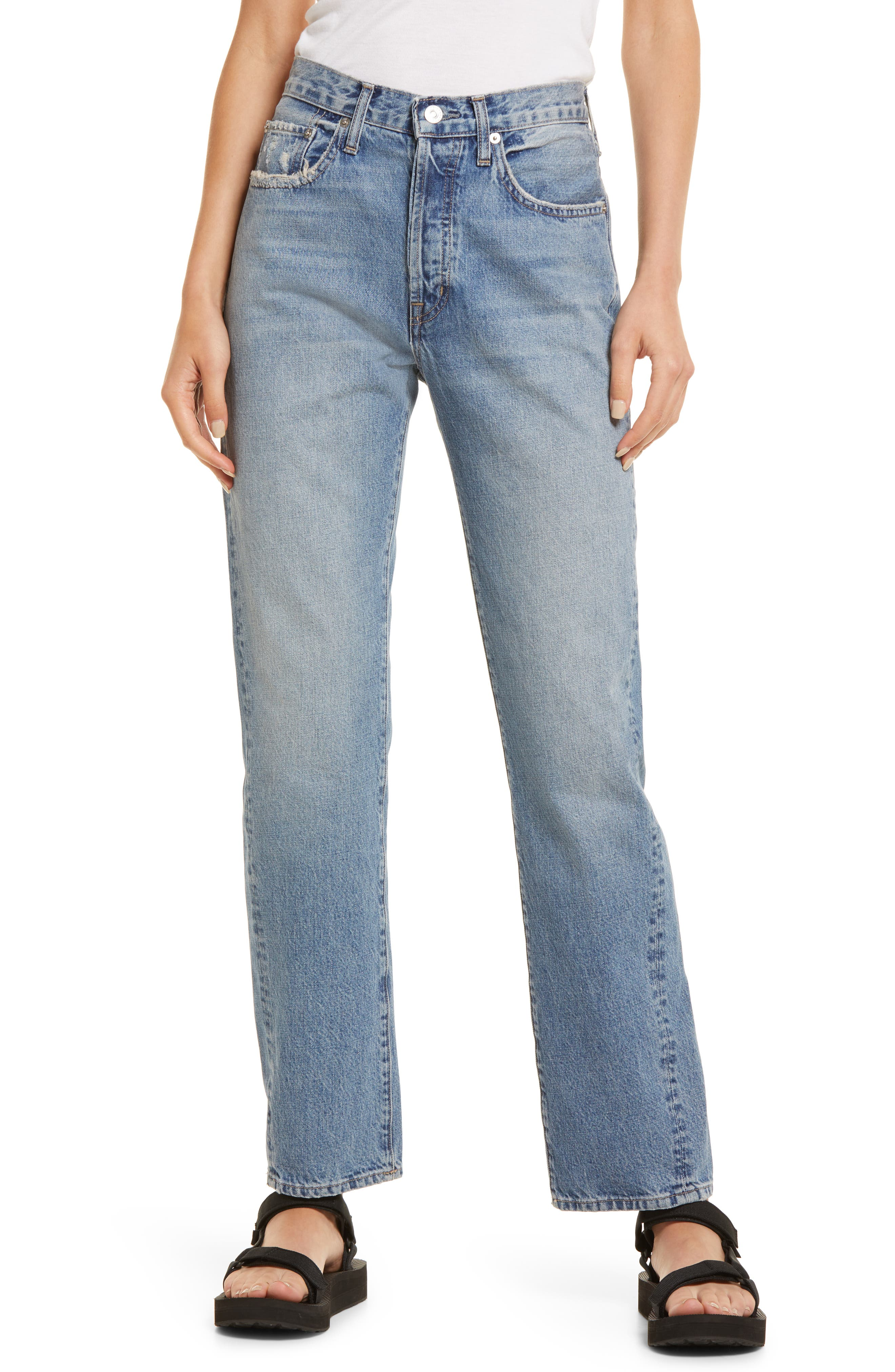 Organic Cotton Ankle Straight Leg Jeans